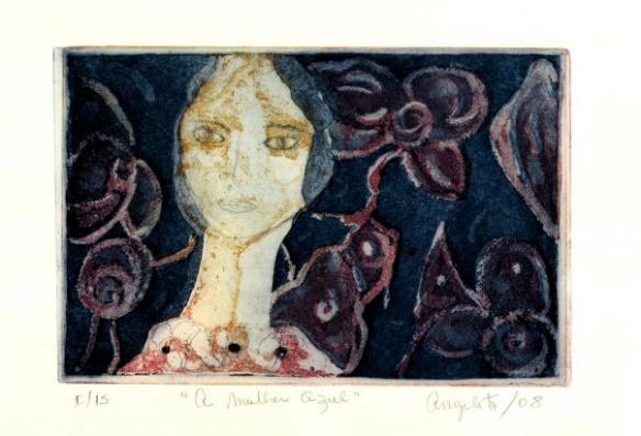 A mulher Azul Água-tinta, água-forte 2008 20x30cm
