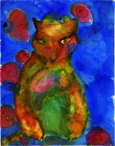 Gato Azul. Aquarela - 2009