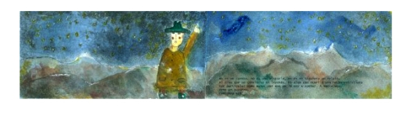 EL MÁGICO, ilustra para o conto: Andina. água-forte, água-tinta e aquarela, 2010