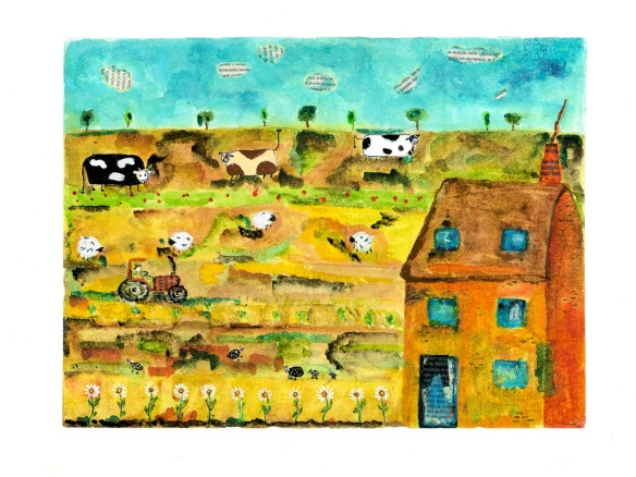 Fazendinha  Técnica mista 2010 Ilustra publicada no catálogo da Nestlê