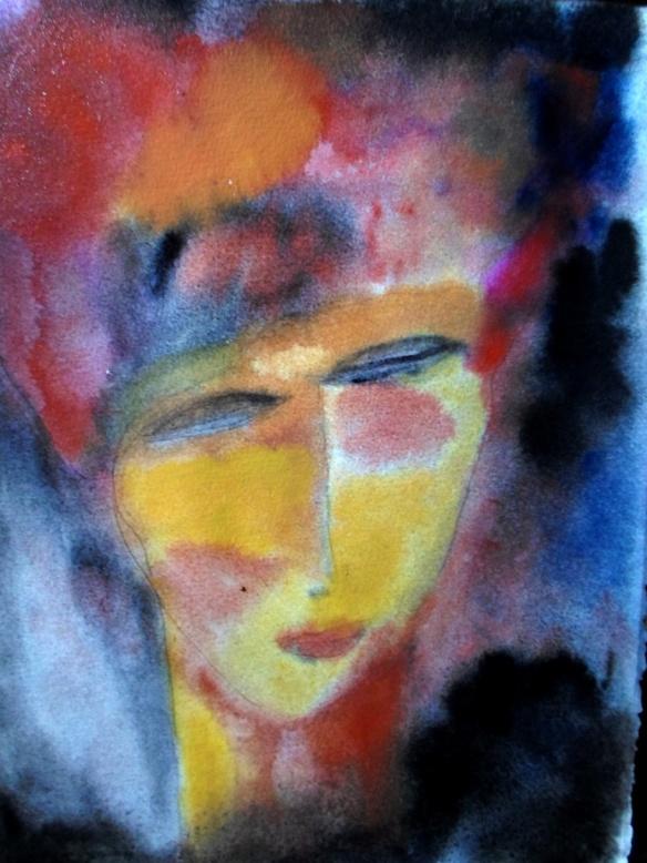 Aquarela, lápis e acrílica. 28x38cm 2014