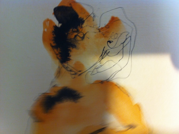 Modelo vivo - Aquarela, 2016 by Angelita Cardoso